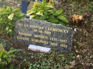 Plaque funéraire Aline